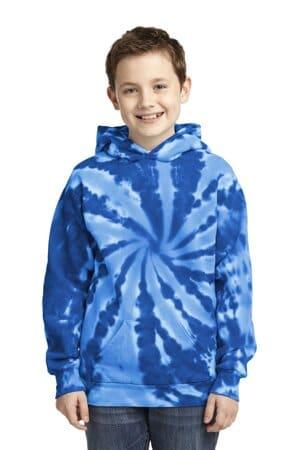 port & company youth tie-dye pullover hooded sweatshirt pc146y