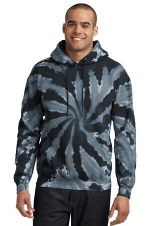 port & company tie-dye pullover hooded sweatshirt pc146
