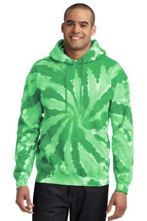 port & company tie-dye pullover hooded sweatshirt pc146