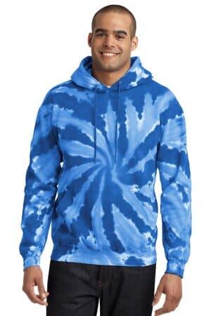 PC146 port & company tie-dye pullover hooded sweatshirt