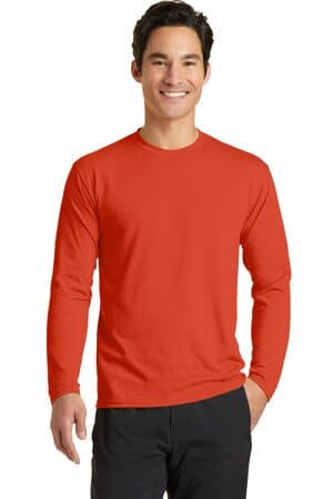 port & company long sleeve performance blend tee pc381ls