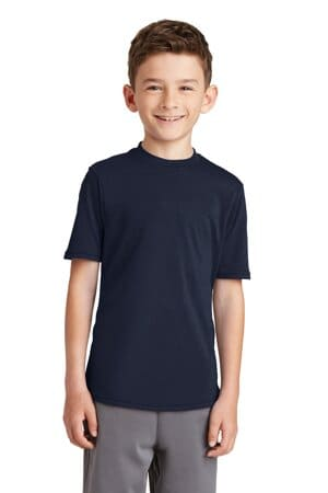 PC381Y port & company youth performance blend tee