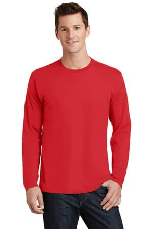 port & company long sleeve fan favorite tee pc450ls