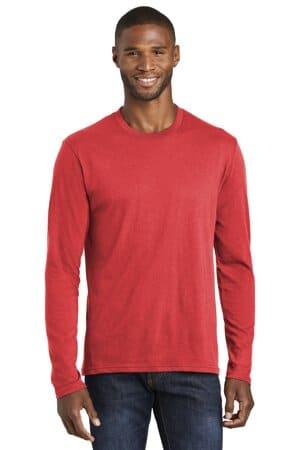 port & company long sleeve fan favorite blend tee pc455ls