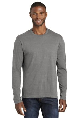 port & company long sleeve fan favorite blend tee pc455ls