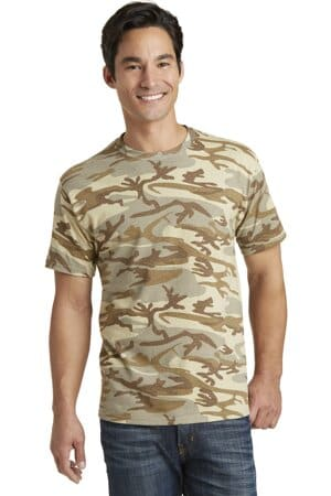 PC54C port & company core cotton camo tee pc54c