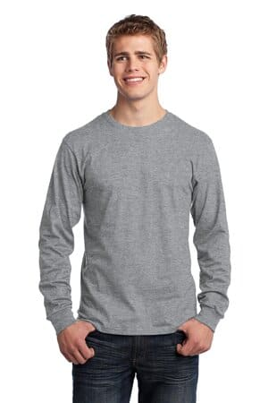 port & company-long sleeve core cotton tee pc54ls