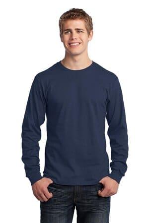 port & company-long sleeve core cotton tee pc54ls