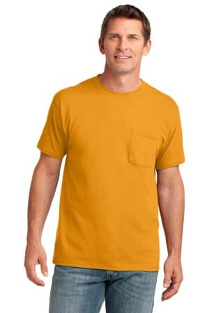 PC54P port & company core cotton pocket tee pc54p