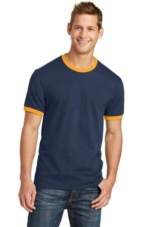 PC54R port & company core cotton ringer tee pc54r