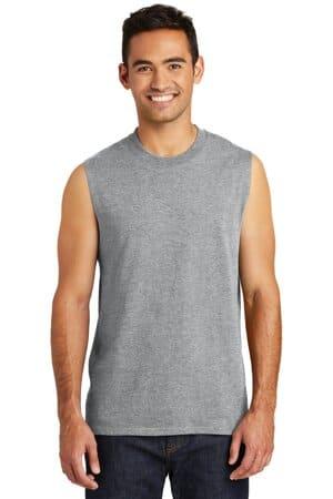 PC54SL port & company core cotton sleeveless tee pc54sl