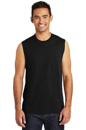 PC54SL port & company core cotton sleeveless tee