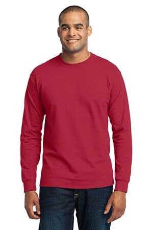 port & company-long sleeve core blend tee pc55ls