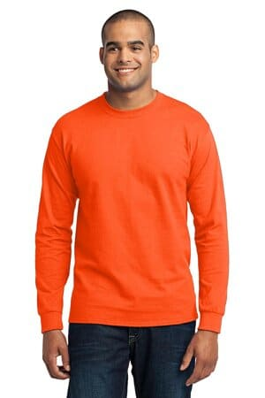 PC55LST port & company tall long sleeve core blend tee