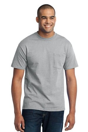 PC55PT port & company tall core blend pocket tee pc55pt