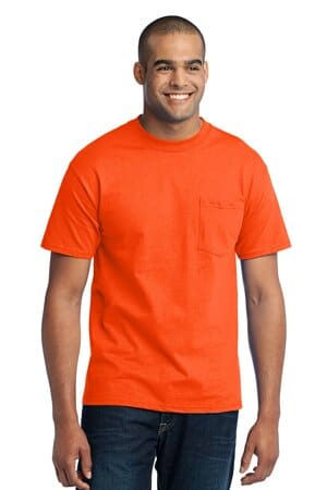 PC55P port & company-core blend pocket tee pc55p