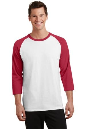 port & company core blend 3/4-sleeve raglan tee pc55rs