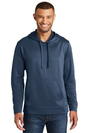 port & company performance fleece pullover hooded sweatshirt pc590h