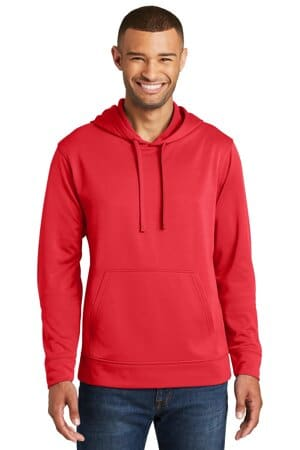 port & company performance fleece pullover hooded sweatshirt pc590h