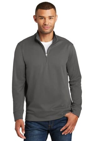 port & company performance fleece 1/4-zip pullover sweatshirt pc590q