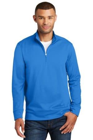 port & company performance fleece 1/4-zip pullover sweatshirt pc590q