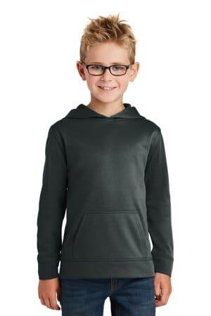 PC590YH port & company youth performance fleece pullover hooded sweatshirt