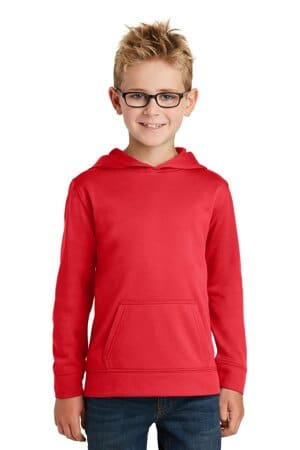 port & company youth performance fleece pullover hooded sweatshirt pc590yh