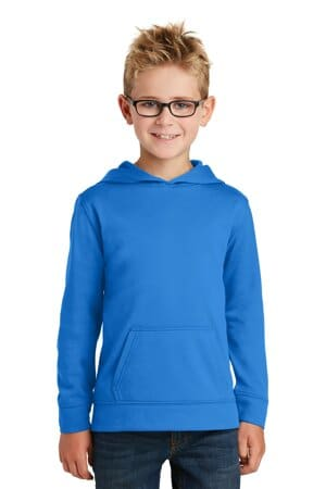 port & company youth performance fleece pullover hooded sweatshirt pc590yh