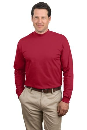 PC61M port & company-essential mock turtleneck pc61m