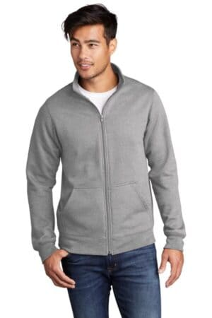 port & company core fleece cadet full-zip sweatshirt pc78fz