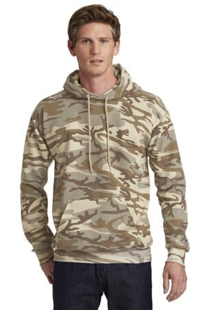 PC78HC port & company core fleece camo pullover hooded sweatshirt