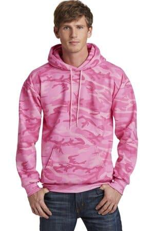 port & company core fleece camo pullover hooded sweatshirt pc78hc