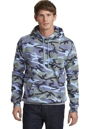 port & company core fleece camo pullover hooded sweatshirt pc78hc