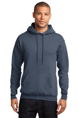 port & company-core fleece pullover hooded sweatshirt pc78h
