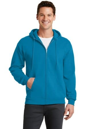 port & company-core fleece full-zip hooded sweatshirt pc78zh