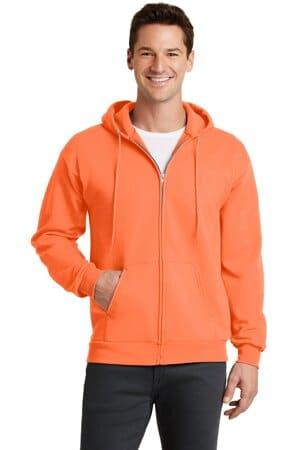 PC78ZH port & company-core fleece full-zip hooded sweatshirt