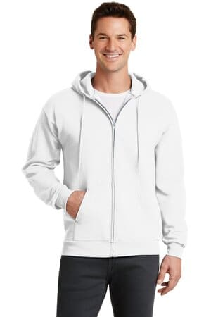 port & company-core fleece full-zip hooded sweatshirt pc78zh