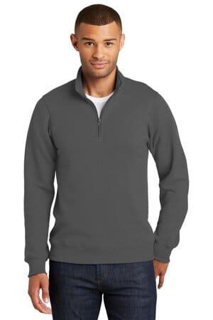 port & company fan favorite fleece 1/4-zip pullover sweatshirt pc850q