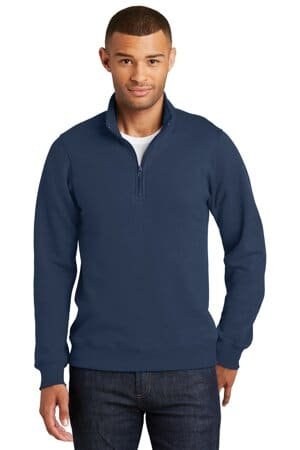 port & company fan favorite fleece 1/4-zip pullover sweatshirt pc850q