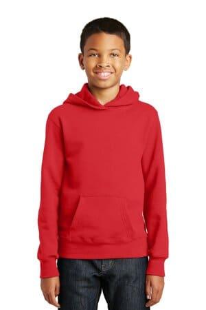 PC850YH port & company youth fan favorite fleece pullover hooded sweatshirt
