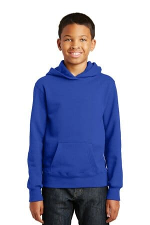 port & company youth fan favorite fleece pullover hooded sweatshirt pc850yh