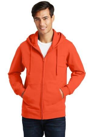 port & company fan favorite fleece full-zip hooded sweatshirt pc850zh