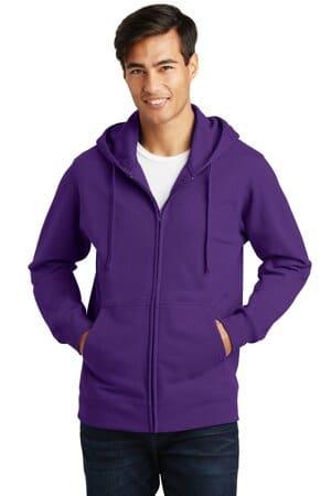 PC850ZH port & company fan favorite fleece full-zip hooded sweatshirt