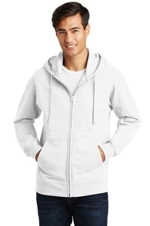 port & company fan favorite fleece full-zip hooded sweatshirt pc850zh