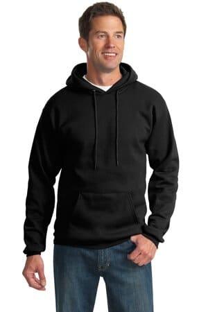 port & company-essential fleece pullover hooded sweatshirt pc90h