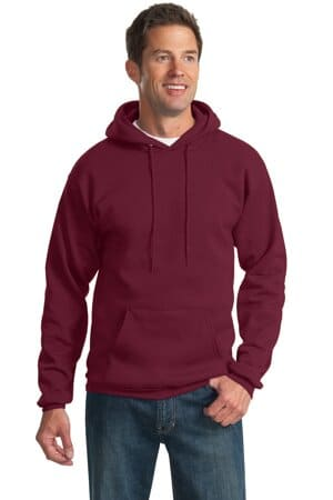 port & company-essential fleece pullover hooded sweatshirt pc90h