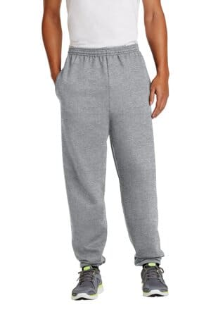 port & company-essential fleece sweatpant with pockets pc90p
