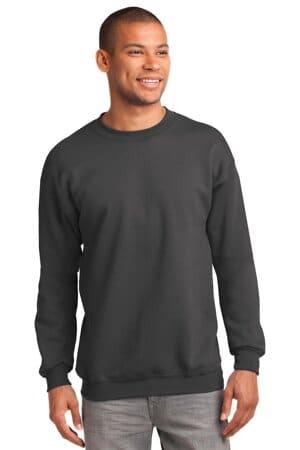 PC90T port & company tall essential fleece crewneck sweatshirt