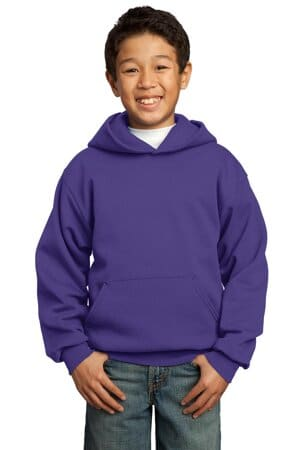 port & company-youth core fleece pullover hooded sweatshirt pc90yh