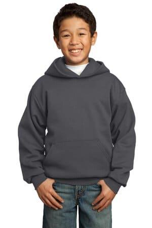 port & company-youth core fleece pullover hooded sweatshirt pc90yh